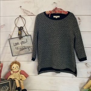 Loft; Gray; Black; Sweater; Cardigan; LP